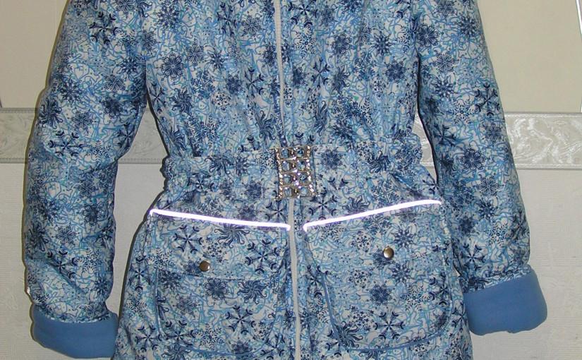 Пошив зимней куртки-пальто на девочку по ottobre 4/2015 модель 23. Капюшон по ottobre 1/2013 модель 34.